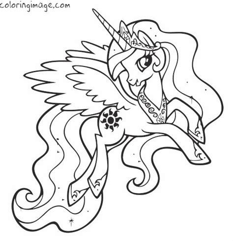 pony coloring page princess celestia