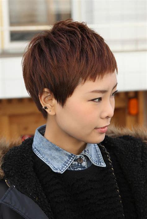 pixie cuts cherry brown sharp sexy rihanna pixie cut boyish asian haircut