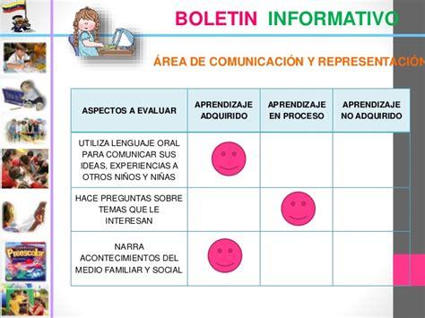boletines de maternal la evaluaci 243 n en la educaci 243 n inicial 2013 2014
