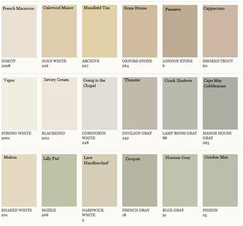 benjamin color chart benjamin blue gray color chart 2017 2018 best farrow