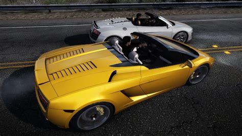 Lamborghini Gallardo Vs Audi R8 Nfs Pursuit Audi R8 Vs Lamborghini Gallardo Spyder