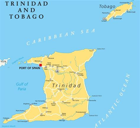 and tobago map travel guide and tobago