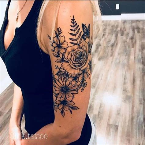 small upper arm tattoos for women 43 beautiful flower tattoos for ideas