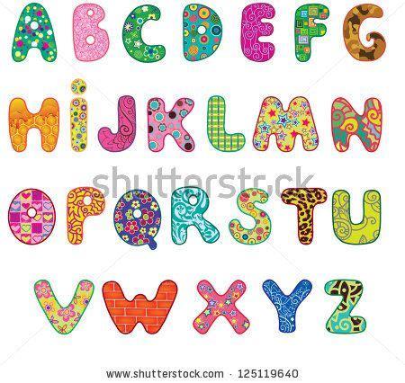 Tattoos Am Fuß Schriftzug 4779 by Alphabet Letter Patterns Colored Textured Alphabet
