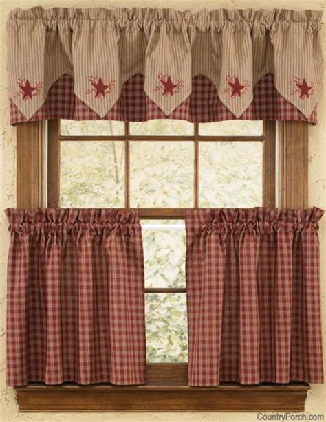 Americana Kitchen Curtains Sturbridge Embroidered Lined Pointed Curtain Valance By Park Designs At The Country Porch