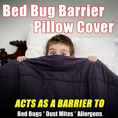 bed bug pillow covers bed bug barrier pillow cover as seen on tv