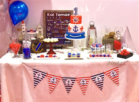 nautical theme nautical theme sweet table chocolata