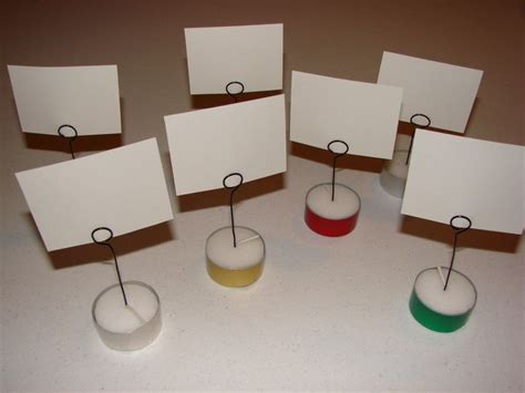 Lets Get Crafty Diy Place Card Holders by Diy Place Card Holders From Tealights Time