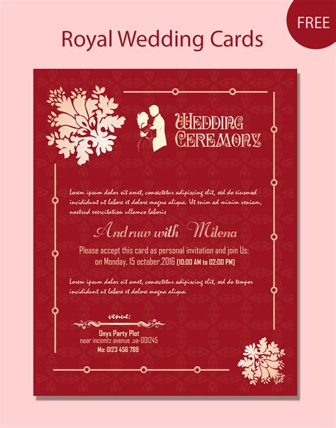free wedding card templates psd wedding card psd template