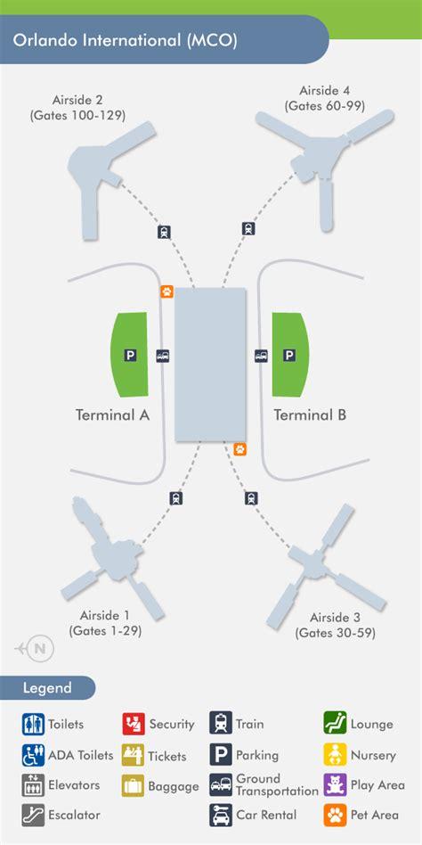 mco map orlando airport mco terminal map