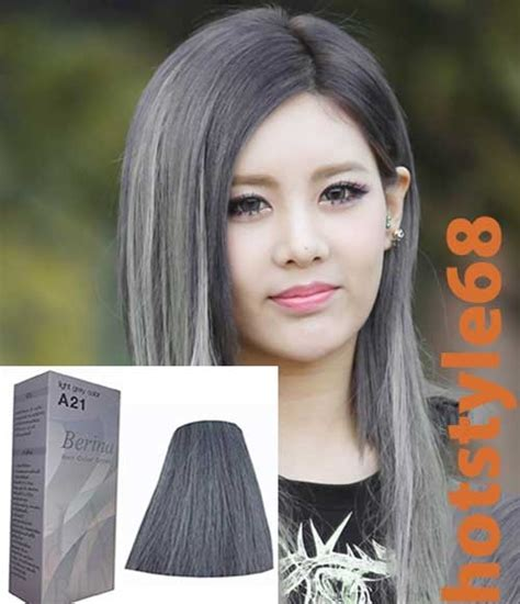 grey hair dye hair color light grey a21 berina permanent hair dye super
