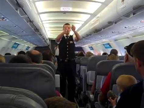 spirit airlines  safety demo youtube