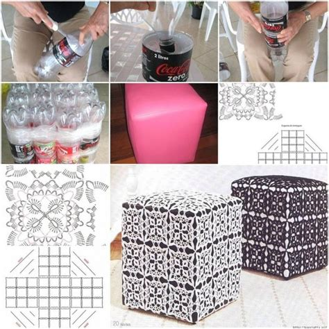 How To Make An Ottoman Out Of A Coffee Table How To Make Ottoman Out Of Plastic Water Bottles Step By Step Diy Tutorial Thumb
