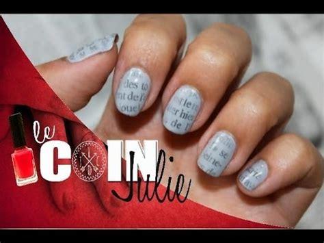 nail design journal nail art motif papier journal pour la rentr 233 e newspaper