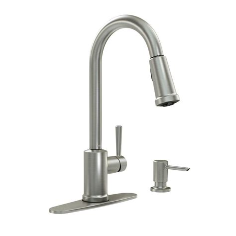 clean kitchen faucet moen indi single handle pull sprayer kitchen faucet with reflex power clean and microban