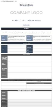 rfi log template free request for information templates smartsheet