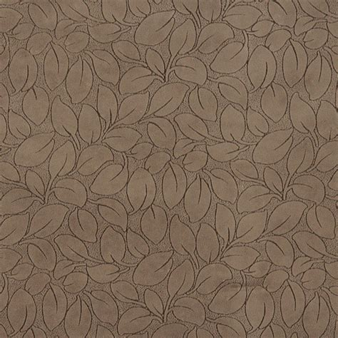 brown leaves microfiber upholstery fabric by the yard