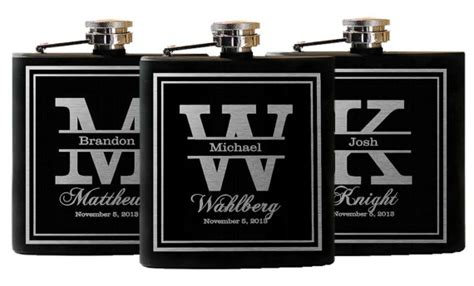 country wedding 8 groomsmen gift flask sets personalized groomsmen gift flask gift set personalized flask engraved
