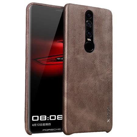 huawei mate rs porsche design leather style shell case brown