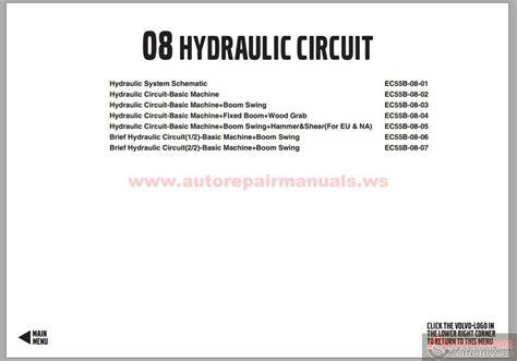 volvo ec55b 08 hydraulic circuit auto repair