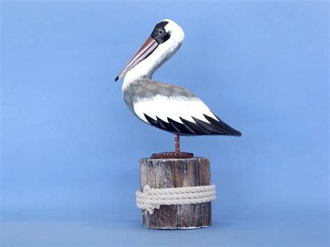 pelican home decor buy pelican on wood stump 13 inch style decor sea