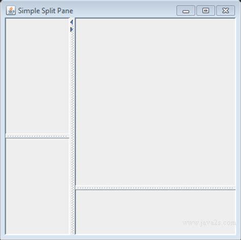 java swing split pane index of tutorials javaimage swing jsplitpane