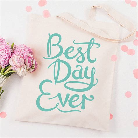 Best Day best day tote bag by alphabet bags