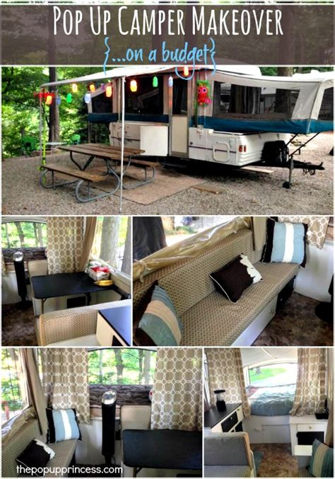 Backyard Makeovers On A Budget Pop Up Campers On Pinterest Tent Trailers Vintage