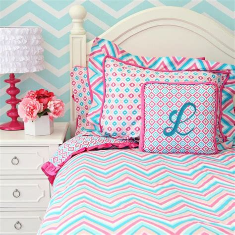 pink and turquoise bedding teen bedding chevron pink turquoise girls chevron