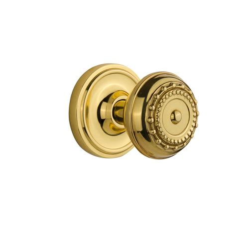 Unlacquered Brass Door Knob by Defiant Brandywine Stainless Steel Passage Knobset T8630