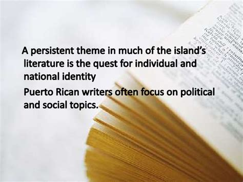 quest themes in literature introduction to the cultural aspect of puerto rico