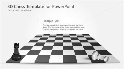 chess board template 6109 03 3d chess template 12 slidemodel