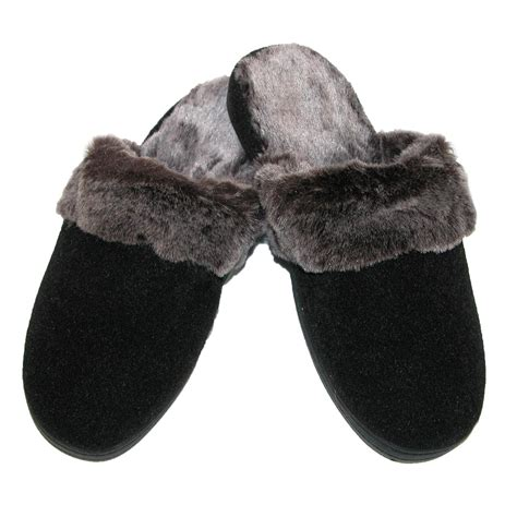 chinchilla slippers womens faux chinchilla support slippers by acorn
