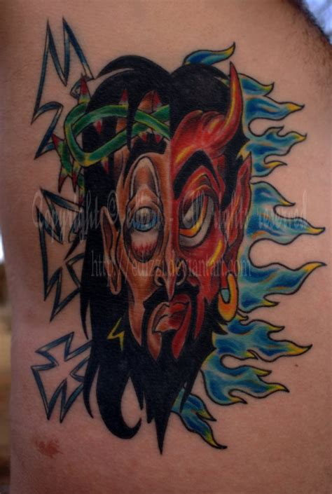 tattoo pictures good vs evil good vs evil tattoo by edizzi on deviantart