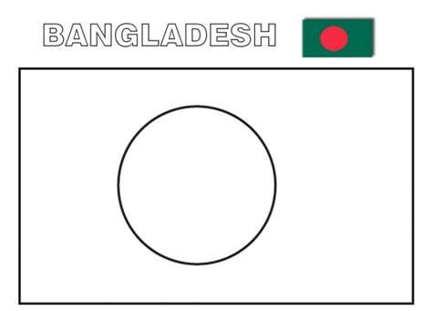 coloring page of bangladesh map geography blog printable flag of bangladesh coloring page