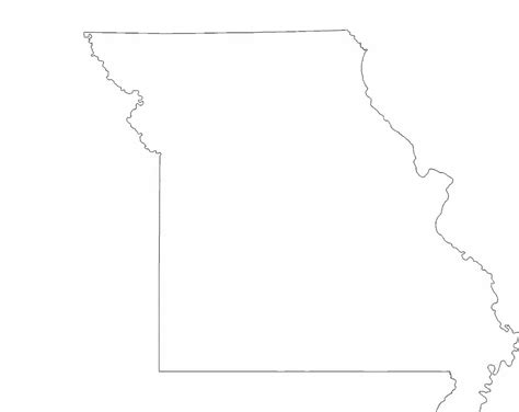 missouri map outline missouri state outline map free