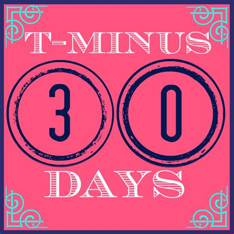 30 days to a 30 days to go and a birthday shout out