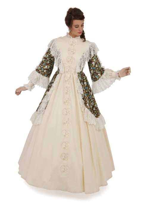 Wst 13602 White Formal Dress vertiline civil war gown recollections