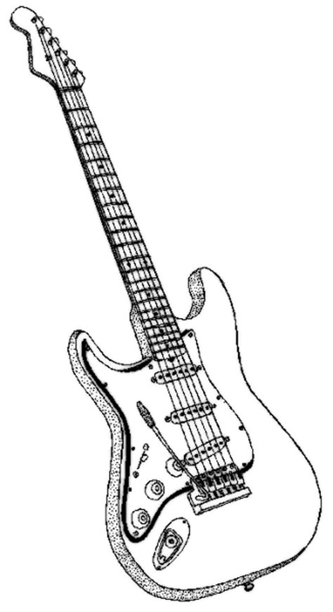 coloring pages of guitar guitar coloring page music dessin pinterest guitars