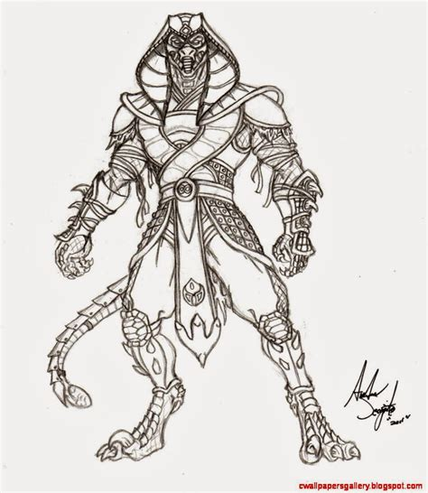doodle mortal reptile drawing mortal kombat wallpapers gallery