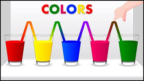 kids color colors for children to learn with color water colours