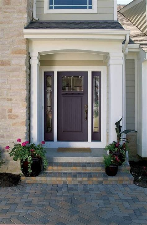 Doors That Go Pop Rethinking Entranceway Color Plum Front Door