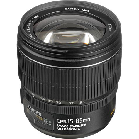Lensa Canon 15 85mm Is Usm Canon Ef S 15 85mm F 3 5 5 6 Is Usm Lens 3560b002 B H Photo