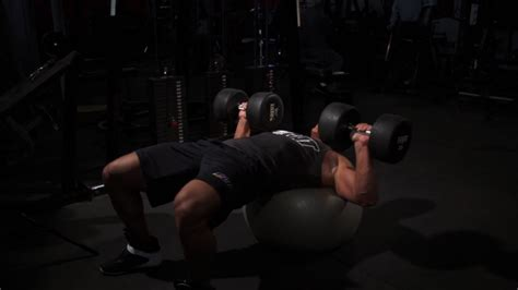 stability ball bench press next level training muscle fitness