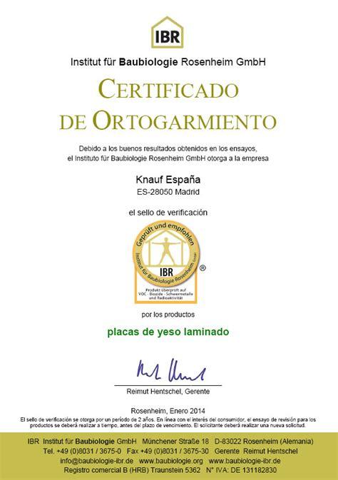 solicitar certificado que acredite la titularidad de la cuenta bancaria las placas de yeso knauf obtienen el certificado ibr que