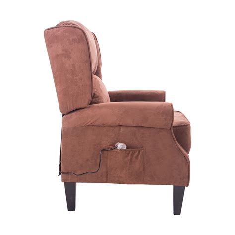 heated recliner chair homcom heated vibrating suede massage living room recliner