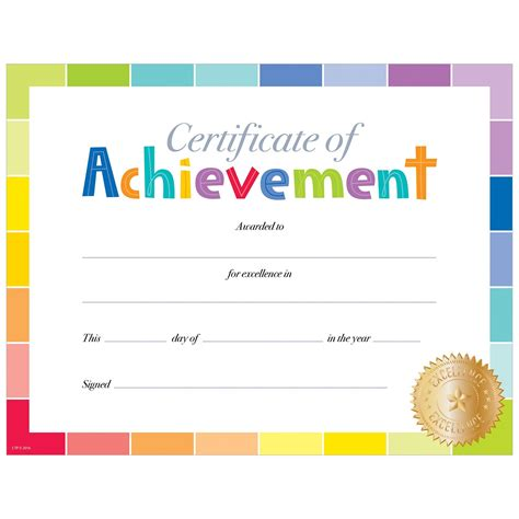 achievement certificate template free certificate of achievement template free printable gallery