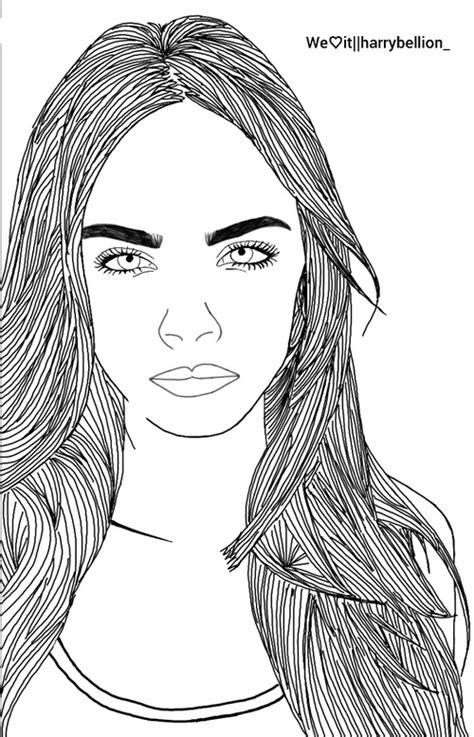 cara membuat outline tumblr cara delevingne outline we heart it drawing outline