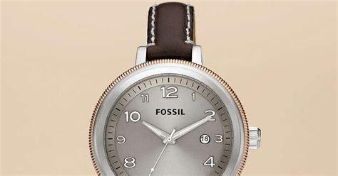 Jam Tangan Wanita Fossil Es4162 Gazer Sand Leather Original jam tangan wanita fossil type am4304