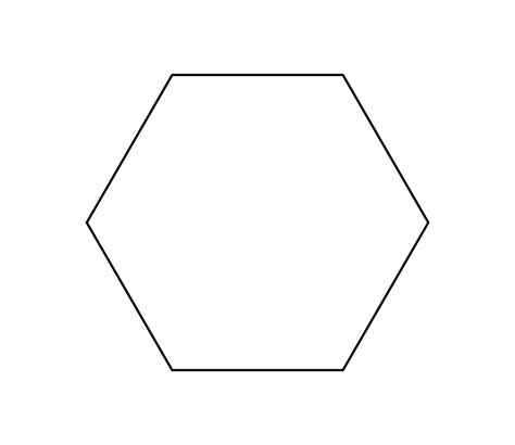 8 inch hexagon template clipart best